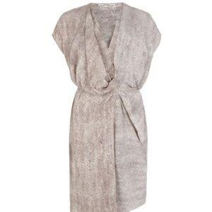 🐍🔥 ALLSAINTS Dee Dee Snake Print Wrap Belt Dress
